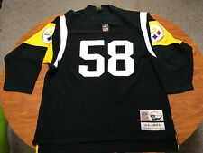MENS VINTAGE REEBOK PITTSBURGH STEELERS JACK LAMBERT THROWBACK JERSEY SIZE 3XL