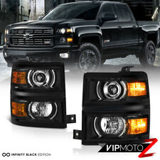 "2014-2015 Chevy Silverado 1500 Upgrade ""BLACK PROJECTOR"" Headlights Replacement"