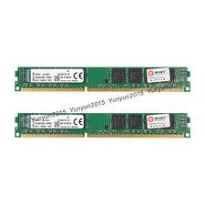 For Kingston 2x 8GB PC3-12800U DDR3 1600MHz CL11 240Pin DIMM SDRAM KVR16N11/8-SP