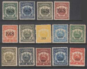 Salvador Revenues 14 diff mint stamps dated 1918-1922