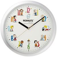 PEANUTS Snoopy  Snoopy classic Wall clock Silver From Japan