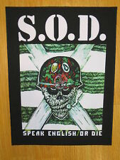 S.O.D. Speak English Or Die BACK PATCH printed NEW thrash crossover metal