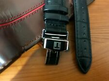 18MM Tissot Leather Black Strap For Tissot Watches| Tissot Silver Buckle
