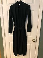 CHRISTAN WOMEN'S BLACK LONG SWEATER WITH BELT SIZE S NWT