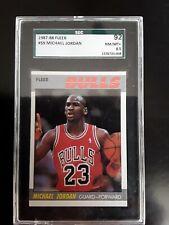 1987 Fleer #59 Michael Jordan Sgc 8.5 92 Nm-mint + 1987-88 87