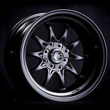15x8 JNC 003 4x100/4x114.3 0 Matte Black Wheel New set(4)