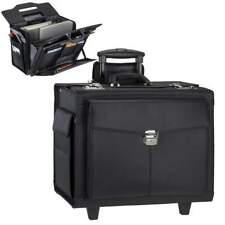 Alassio Trolley Pilotenkoffer Businesskoffer Aktenkoffer schwarz Fächertasche