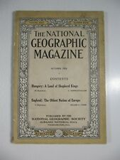 National Geographic magazine October 1914-Hungary; England