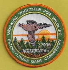 """Pa Pennsylvania Game Fish Commission NEW 2008 WTFW Mourning Dove 4"""" Bird Patch"""