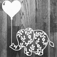 Stanzschablone Elefant Liane Blätter Weihnachten Geburtstag Hochzeit Karte Album