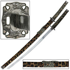 Jungle Leopard Japanese Samurai Katana Sword