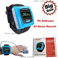 CMS50F Wrist Pulse Oximeter Spo2 Monitor 24h Daily Overnight Sleep CONTEC CE FDA