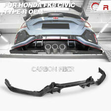 For Honda FK8 CIVIC TYPE-R TyR style Carbon Fiber Glossy Rear Diffuser Body kits