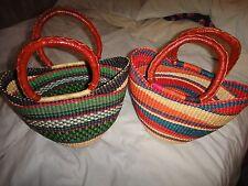 Ghana Bolga African Weave Basket Handbag (PRICE IS FOR 1 OFF THEM ONLY)!!!