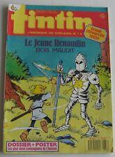 JOURNAL TINTIN N°673 LE JEUNE RENAUDIN BOIS MAUDIT   1988