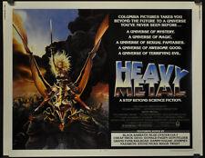 HEAVY METAL 1981 ORIGINAL 22X28 MOVIE POSTER RICHARD ROMANUS JOHN CANDY