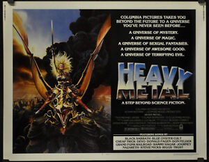 HEAVY METAL 1981 ORIGINAL 22X28 MOVIE POSTER RICHARD ROMANUS JOHN CANDY