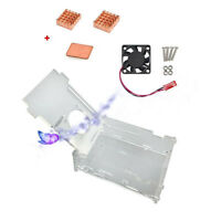 Clear Acrylic Case with Cooling Fan Heat Sink Kit for Raspberry Pi 3 Model B  FO