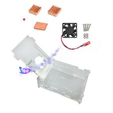 Acrylgehäuse mit Kühlgebläse Kühlkörper Kit für Raspberry Pi 3 Modell B NIU