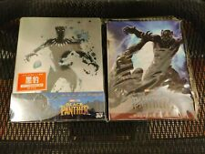 Black Panther Hk 3D+2D Bluray Steelbook, New/Sealed, with gift