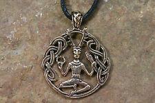 Colgante amuleto Cernunnos bronce + colgante bosque Dios celtas