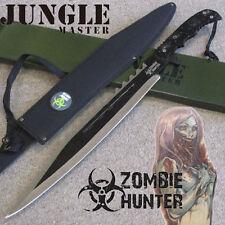 ZOMBIE HUNTER Bio-Hazard MACHETE Full Tang Hunting Knife w/Sheath Jungle JM-018