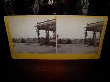 "R.S. DeLamater Stereoview Card of Veranda of Samuel Colt Residence ""Armsmear"" VG"