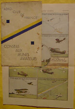 MORANE Robert - CONSEILS AUX JEUNES AVIATEURS - AERO-CLUB DE FRANCE - Ca 1935