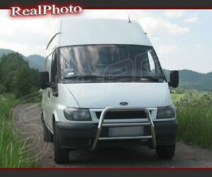 FORD TRANSIT MK6 2000-2006 BULL BAR WITHOUT AXLE BARS / STAINLESS STEEL