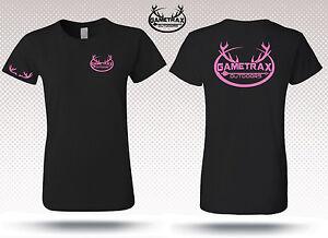 Womens Short Sleeve Hunting t shirt,bow huntress,pink,deer,buck,Gametrax,deer