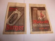 Werbung Reklame Tante Emma Laden Tüte Reklametüte Rössli ST FELIX Burger Zigarre