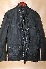 #91 Barbour Duke Waxed Cotton Jacket Size XL BLACK  RETAIL $399