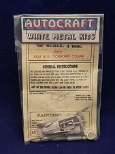 Autocraft 1934 PRE-WAR MG TICKFORD COUPE WHITE METAL KIT CAR OO GAUGE 1/76 4 MM