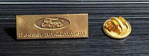 "Ford Pin ""Besser ankommen"" großes Logo golden - Maße 30x10mm"