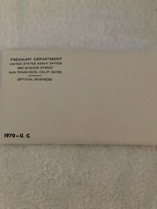 1970-U.C. Us mint original envelope Opened coins are mint