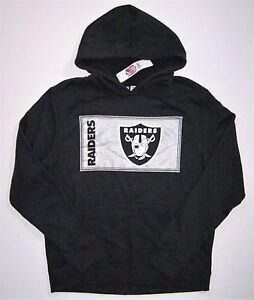 NFL Majestic Oakland Raiders Men's Metallic Ticket Pullover Hoodie Jacket