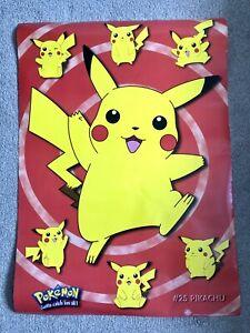 Vintage Official Pokemon Pikachu 90 X 64cm Poster Rare Nintendo (2000) GBPosters