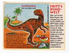 Dino-Welt - 1980s Fritt Germany Sticker #7 Allosaurus therapod dinosaur