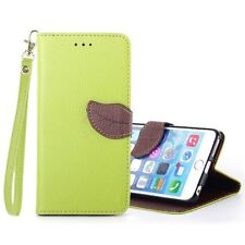 XUNDD Leaves Buckle PU Leather Carrying Case with Stand iPhone 6 Green/Brown