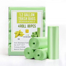 1.2 Gallon Small Garbage Bags Biodegradable 5 Liter Mini Compostable Strong Bags