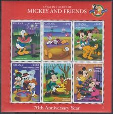 Disney Cartoons / Mickey & Friends 70th Anniversary Year Ghana Sheetlet 2 #DS092