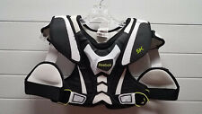 Reebok 5K Lacrosse Shoulder Pads (White/Black/Lime), Size Youth Small