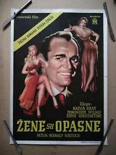 1954 Nadia Grey - Dames Get Along - Polish movie poster