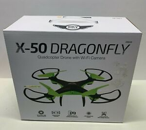 X-50 DragonFly Quadcopter Drone Wi-Fi Camera LED Lights Remote Stream Video NEW