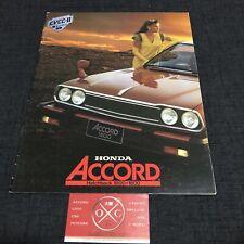 1G Honda Accord JDM Brochure Rare 76-81 77 78 79 80 Sedan Hatchback CVCC Poster