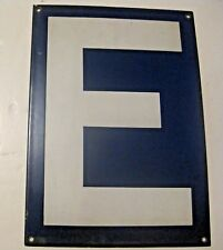 ORIGINAL VINTAGE BLUE PORCELAIN LETTER E ~ MAKE A NAME / SIGN GIFT ~  LOT 9