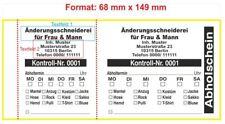 Doppelnummern Nummerierung 500 Garderobenmarken Karton 170 g Bügelloch 14 mm
