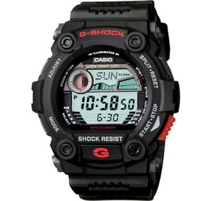 Casio G-Shock Digital Mens Black Moon Tide Graph Watch G7900-1 G-7900-1DR