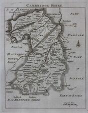 Original antique map ENGLAND, CAMBRIDGESHIRE, 'England Displayed' J Rocque, 1769