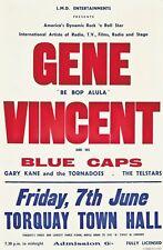 """Gene Vincent Torquay 16"""" x 12"""" Reproduction Concert Tour Poster Photo"""
